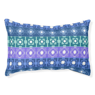 Pretty Blue Aztec Pattern Dog Bed