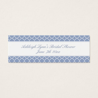 Pretty Blue Bridal Shower Favor Tags Business Card