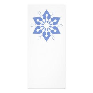 Pretty Blue Christmas Star Snowflake Rack Cards