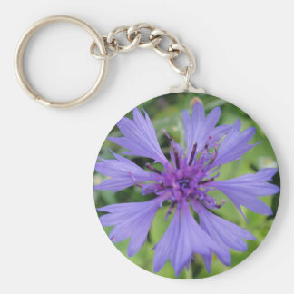 Pretty blue cornflower key ring