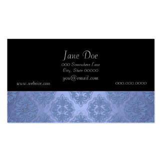 Pretty Blue Damask Double-Sided Standard Business Cards (Pack Of 100)