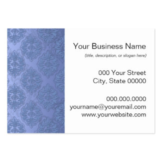 Pretty Blue Damask Pack Of Chubby Business Cards