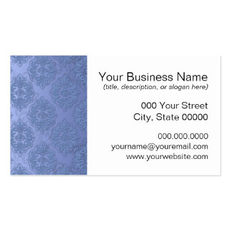 Pretty Blue Damask Pack Of Standard Business Cards
