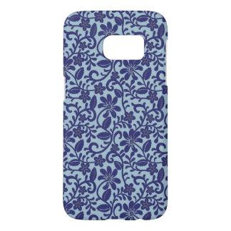 Pretty Blue Floral Damask Pattern