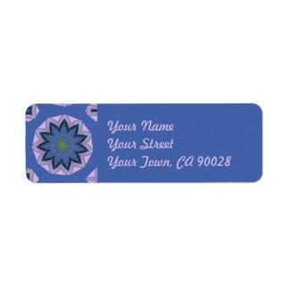 Pretty Blue Floral Design Return Address Label