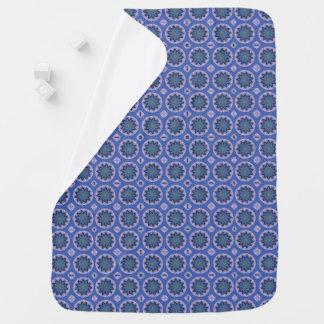 Pretty Blue Floral Pattern Baby Blanket