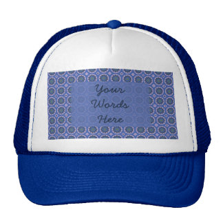 Pretty Blue Floral Pattern Cap