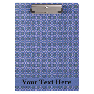 Pretty Blue Floral Pattern Clipboard