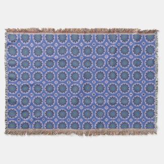 Pretty Blue Floral Pattern Throw Blanket