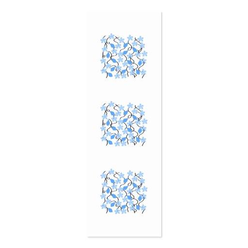 Pretty blue flower pattern on white. Custom Business Cards