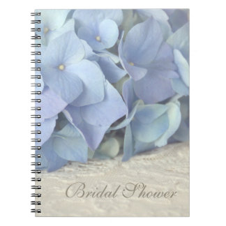 Pretty Blue Hydrangea Bridal Shower Notebook