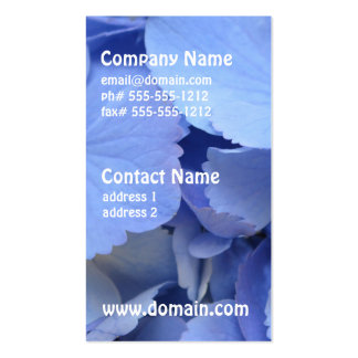 Pretty Blue Hydrangea Business Card Templates
