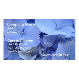 Pretty Blue Hydrangea Business Card Template