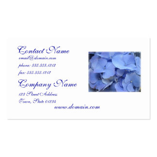 Pretty Blue Hydrangea Business Cards