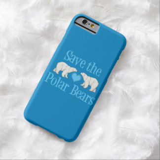 Pretty Blue Polar Bear Barely There iPhone 6 Case