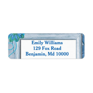 Pretty Blue Return Address Label