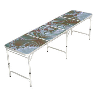 Pretty Blue Silk and Satin Look Beer Pong Table