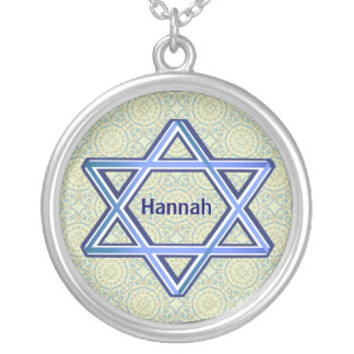 Pretty Blue Star of David Necklace