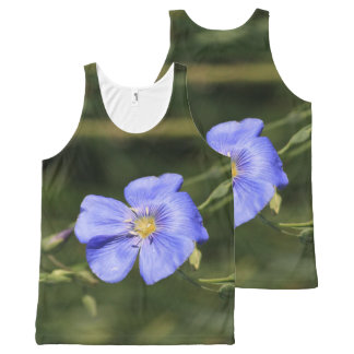 Pretty Blue Wildflower All-Over Print Singlet