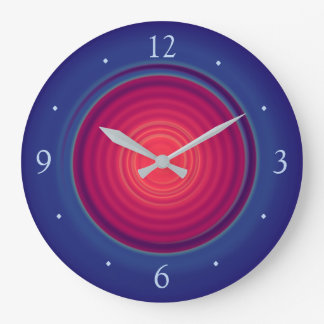 Pretty Blue with Rose Red Centre>Wall Clocks