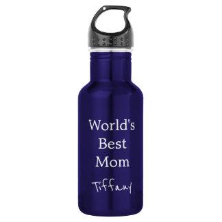 Pretty Blue Worlds Best Mom 532 Ml Water Bottle