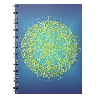 Pretty Blue/Yellow Oriental Design Notebook