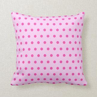 Pretty Blush Pink Polka Dot Cushion