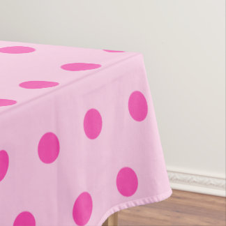 Pretty Blush Pink Polka Dot Party Tablecloth