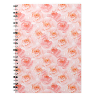 Pretty Blush Pink Watercolor Roses Notebook