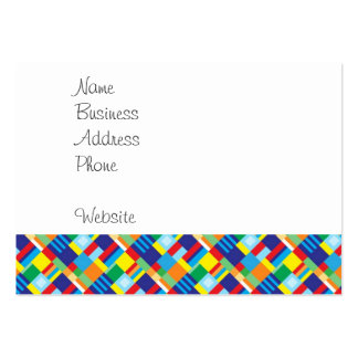 Pretty Bold Colorful Diagonal Quilt Pattern Pack Of Chubby Business Cards