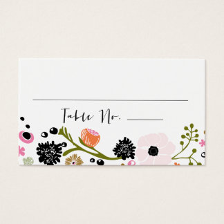 Pretty Bouquet Floral Wedding Table No. Card