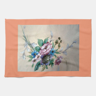 Pretty `Bouquet of Flowers' Tea towel