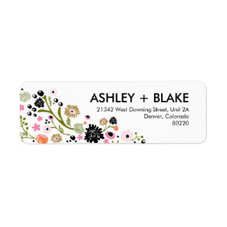 Pretty Bouquet Wedding Return Address Label