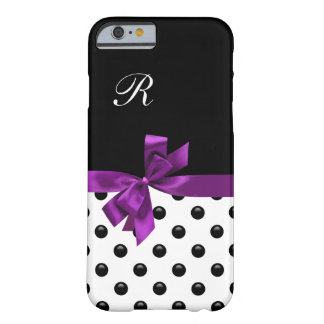 Pretty Bow Girly Monogram Barely There iPhone 6 Case