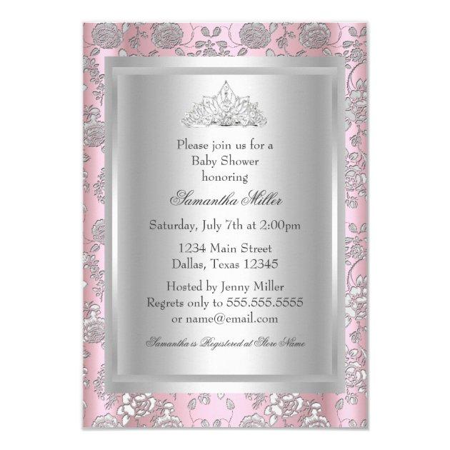 pretty bow tiara princess baby shower invitation | zazzle, Baby shower invitations