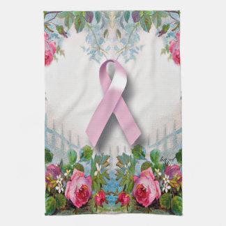 Pretty Breast Cancer Survivor Kitchen Towel
