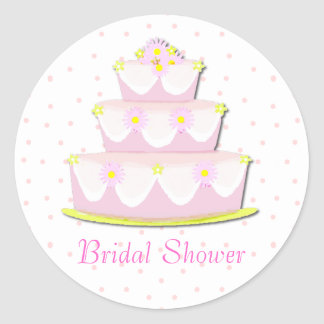 Pretty Bridal Shower Envelope Seal Sticker