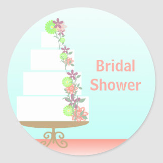 Pretty Bridal Shower Envelope Seal Stickers