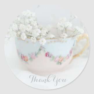 Pretty Bridal Tea Shower Thank You Stickers