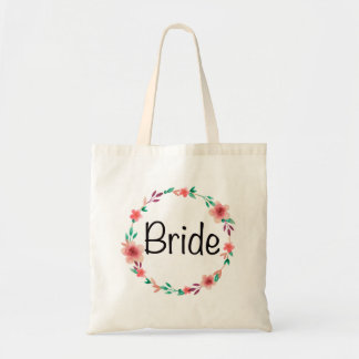 Pretty Bride 'bride to be' bridal shower tote bag