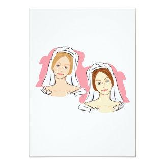 Pretty Brides 13 Cm X 18 Cm Invitation Card
