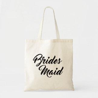 Pretty bridesmaid favor tote bag