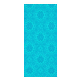 Pretty bright aqua blue kaleidoscope 10 cm x 23 cm rack card