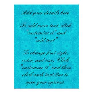 Pretty bright aqua blue kaleidoscope 21.5 cm x 28 cm flyer