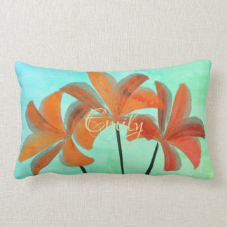 Pretty Bright Watercolor Lilies Spring Pillow