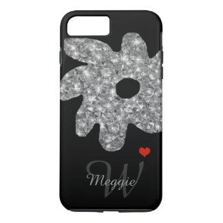 pretty brightness flower with name & initial iPhone 8 plus/7 plus case