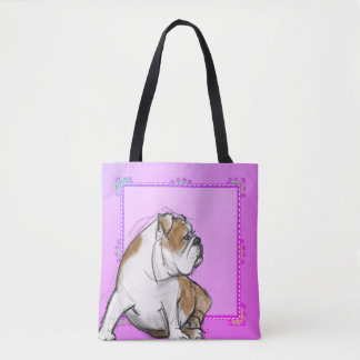 Pretty Bulldog Tote Bag