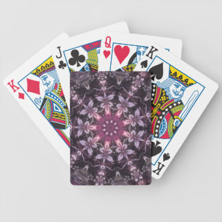 Pretty Burgundy Black Floral Mandala Bicycle Playing Cards