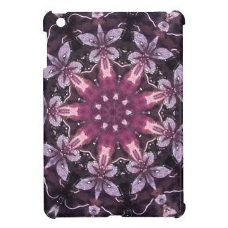 Pretty Burgundy Black Floral Mandala Cover For The iPad Mini