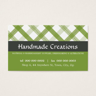 PRETTY BUSINESS CARD :: gingham pattern 9L